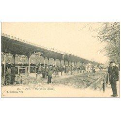 carte postale ancienne 75 PARIS 13. Marché aux Chevaux