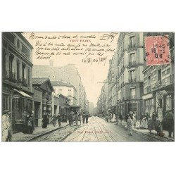 carte postale ancienne 75 PARIS 14. Rue Didot 1906 magasin de Cartes Postales