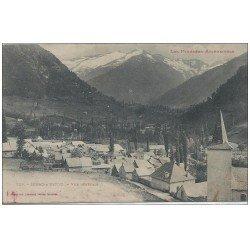 carte postale ancienne 09 SERAC-D'USTOU. Vue générale du Village 1919 (défaut)...