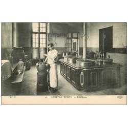 carte postale ancienne 75 PARIS 20. Hôpital Tenon. L'Officine 4 rue de la Chine