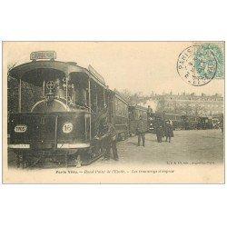 carte postale ancienne 75 PARIS VECU. Les Tramways à vapeur Rond-Point de l'Etoile 1905