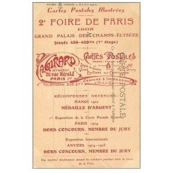 carte postale ancienne 75 PARIS. Foire de Paris Cartes Postales Illustrées 1905. Grand Palais de Champs Elysées. Girard graveur
