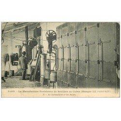 """carte postale ancienne 75 PARIS. Manufacture Parisienne de Bouillon en Cubes """""""" Le Parfait """""""" Laboratoire et Fours"""