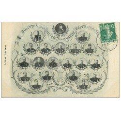 carte postale ancienne 75 PARIS. Musique de la Garde Républicaine 1908 Solistes