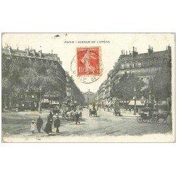 carte postale ancienne PARIS 01. Avenue de l'Opéra 1909