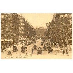 carte postale ancienne PARIS 01. Avenue de l'Opéra 583