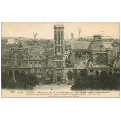 carte postale ancienne PARIS 01. Mairie Saint-Germain-l'Auxerrois 1915