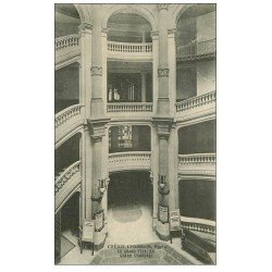 carte postale ancienne PARIS 02. Banque du Crédit Lyonnais Escalier Boulevard des Italiens