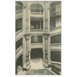 PARIS 02. Banque du Crédit Lyonnais Escalier Boulevard des Italiens