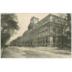 carte postale ancienne PARIS 02. Banque du Crédit Lyonnais Hôtel Boulevard des Italiens