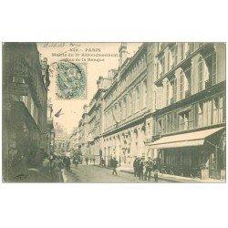 carte postale ancienne PARIS 02. Mairie rue de la Banque 1903