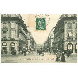 carte postale ancienne PARIS 02. Rue de la Paix vers l'Opéra