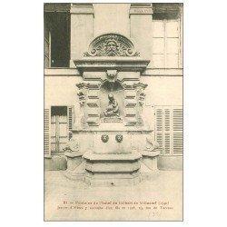 carte postale ancienne PARIS 03. Fontaine Hôtel Colbert de Villacerf 23 Rue de Turenne