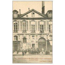 carte postale ancienne PARIS 03. Hôtel Comte Montrésor 54 rue de Turenne et Ecole de Garçons