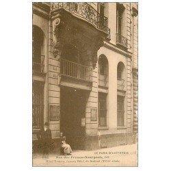carte postale ancienne PARIS 03. Hôtel Romery rue des Francs-Bourgeois. Bords dentelés