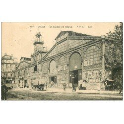 carte postale ancienne PARIS 03. Le Marché au Carreau du Temple 1903