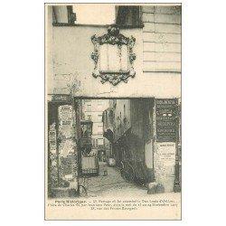 PARIS 03. Passage 38 rue des Francs-Bourgeois où fut assassiné le Duc Louis d'Orléans 1911