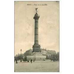carte postale ancienne PARIS 03. Place de la Bastille