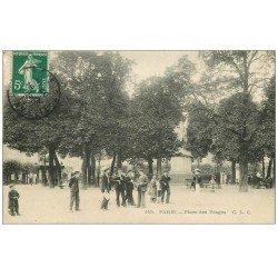 PARIS 03. Place des Vosges. Timbre Taxe 1907