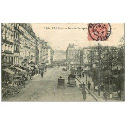carte postale ancienne PARIS 03. Rue du Temple 1906