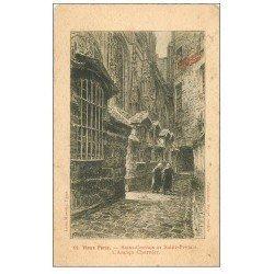 carte postale ancienne PARIS 04. Ancien Charnier Saint-Gervais et Saint-Protais. Style parchemin MAGGI