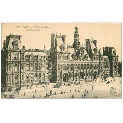 carte postale ancienne PARIS 04. Hôtel de Ville 15