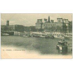 carte postale ancienne PARIS 04. Hôtel de Ville 16