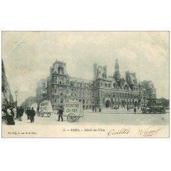 carte postale ancienne PARIS 04. Hôtel de Ville 1903. Montage Veloutine Fay