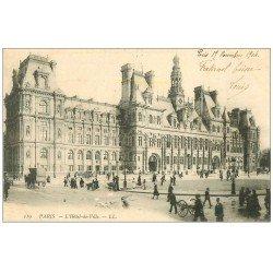 carte postale ancienne PARIS 04. Hôtel de Ville 1904