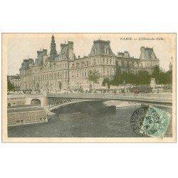 carte postale ancienne PARIS 04. Hôtel de Ville 1906
