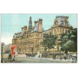 carte postale ancienne PARIS 04. Hôtel de Ville 1909 petit pli