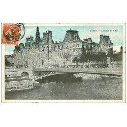 carte postale ancienne PARIS 04. Hôtel de Ville 1910