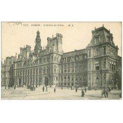 carte postale ancienne PARIS 04. Hôtel de Ville 1916