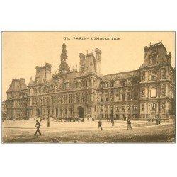 carte postale ancienne PARIS 04. Hôtel de Ville 72