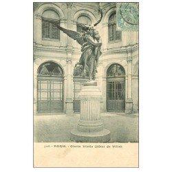carte postale ancienne PARIS 04. Hôtel de Ville Gloria Vietis 1905