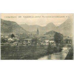 carte postale ancienne 09 TARASCON-SUR-ARIEGE. Rive gauche vers 1930-40
