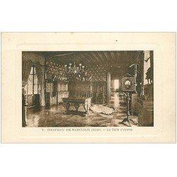carte postale ancienne 02 CHATEAU DE MARCHAIS. La Salle d'Armes