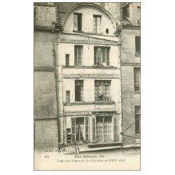 carte postale ancienne PARIS 05. 65 Rue Galande Logis des Seigneurs de Châtillon