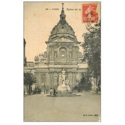 carte postale ancienne PARIS 05. Eglise de la Sorbonne 1908