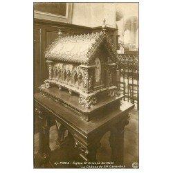 carte postale ancienne PARIS 05. Eglise Saint-Etienne-du-Mont Châsse Geneviève