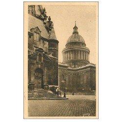 carte postale ancienne PARIS 05. Eglise Saint-Etienne-du-Mont Dôme Panthéon 1927