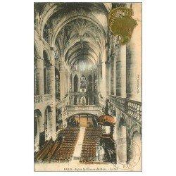 carte postale ancienne PARIS 05. Eglise Saint-Etienne-du-Mont la Nef et ajoutis