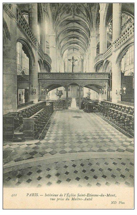 PARIS 05. Eglise Saint-Etienne-du-Mont Maître-Autel