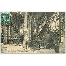carte postale ancienne PARIS 05. Eglise Saint-Etienne-du-Mont. Tombeau Sainte-Geneviève 1910