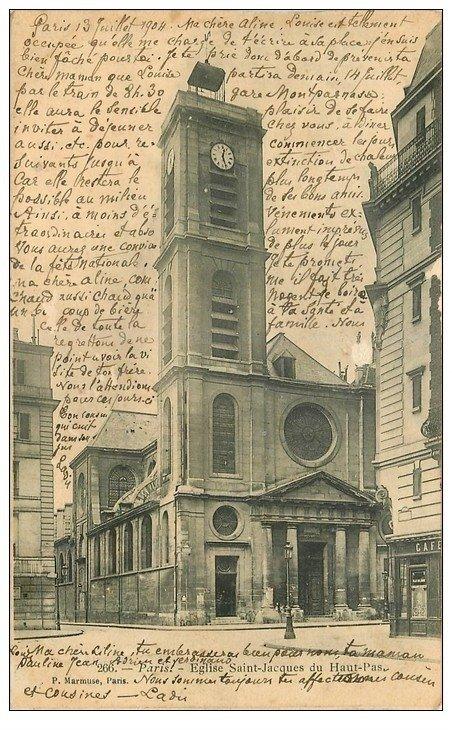 PARIS 05. Eglise Saint-Jacques du Haut-Pas 1904