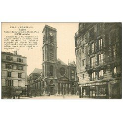 carte postale ancienne PARIS 05. Eglise Saint-Jacques-du-Haut-Pas 1922