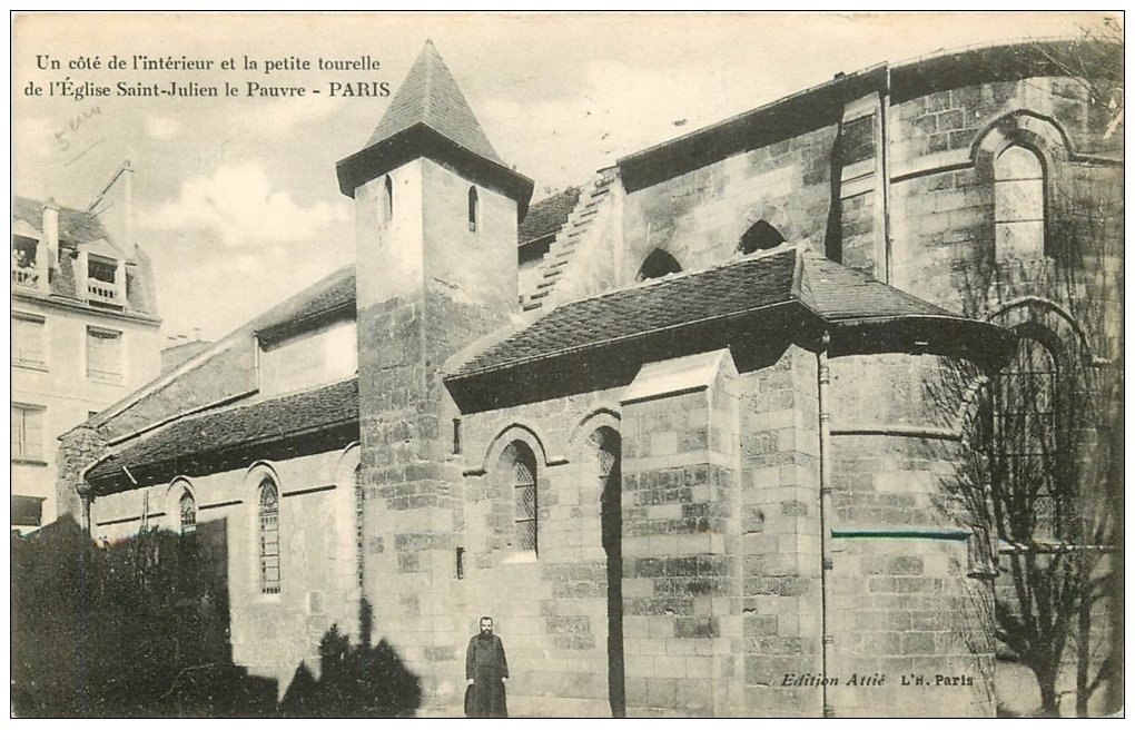 PARIS 05. Eglise Saint-Julien-le-Pauvre 1908