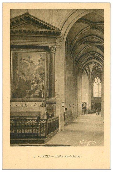 PARIS 05. Eglise Saint-Merry Autel