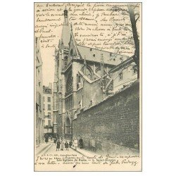 carte postale ancienne PARIS 05. Eglise Saint-Séverin 1906