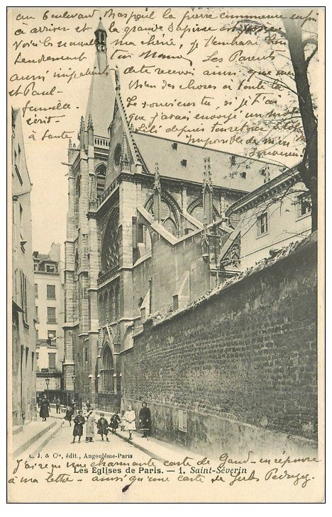 PARIS 05. Eglise Saint-Séverin 1906